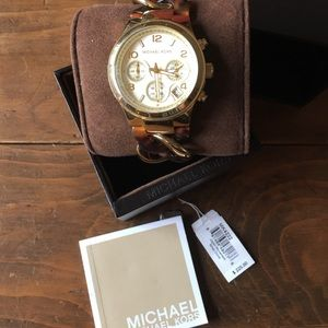 Michael Kors Tortoise and Good Chain watch